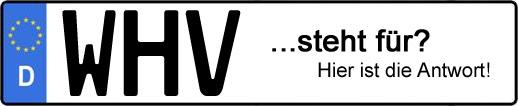 Wofür steht das Kfz-Kennzeichen WHV? | Kfz-Kennzeichen - AUTOPURISTEN.net
