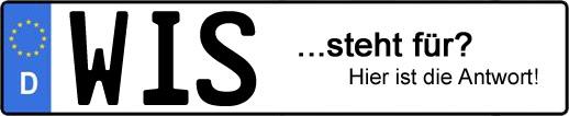 Wofür steht das Kfz-Kennzeichen WIS? | Kfz-Kennzeichen - AUTOPURISTEN.net