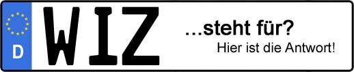 Wofür steht das Kfz-Kennzeichen WIZ? | Kfz-Kennzeichen - AUTOPURISTEN.net