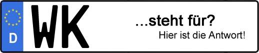 Wofür steht das Kfz-Kennzeichen WK? | Kfz-Kennzeichen - AUTOPURISTEN.net