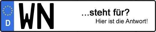 Wofür steht das Kfz-Kennzeichen WN? | Kfz-Kennzeichen - AUTOPURISTEN.net