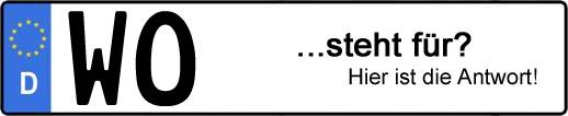 Wofür steht das Kfz-Kennzeichen WO? | Kfz-Kennzeichen - AUTOPURISTEN.net