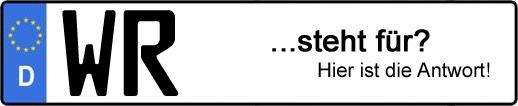 Wofür steht das Kfz-Kennzeichen WR? | Kfz-Kennzeichen - AUTOPURISTEN.net