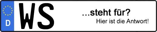 Wofür steht das Kfz-Kennzeichen WS? | Kfz-Kennzeichen - AUTOPURISTEN.net