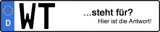 Wofür steht das Kfz-Kennzeichen WT? | Kfz-Kennzeichen - AUTOPURISTEN.net