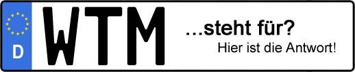 Wofür steht das Kfz-Kennzeichen WTM? | Kfz-Kennzeichen - AUTOPURISTEN.net