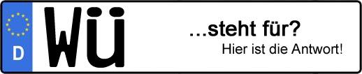 Wofür steht das Kfz-Kennzeichen WÜ? | Kfz-Kennzeichen - AUTOPURISTEN.net