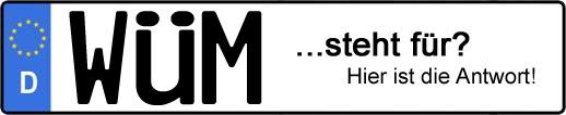 Wofür steht das Kfz-Kennzeichen WÜM? | Kfz-Kennzeichen - AUTOPURISTEN.net