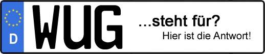 Wofür steht das Kfz-Kennzeichen WUG? | Kfz-Kennzeichen - AUTOPURISTEN.net