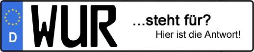 Wofür steht das Kfz-Kennzeichen WUR? | Kfz-Kennzeichen - AUTOPURISTEN.net