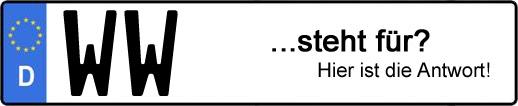 Wofür steht das Kfz-Kennzeichen WW? | Kfz-Kennzeichen - AUTOPURISTEN.net