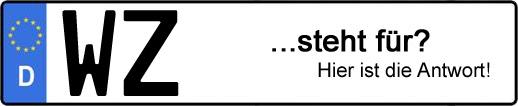 Wofür steht das Kfz-Kennzeichen WZ? | Kfz-Kennzeichen - AUTOPURISTEN.net