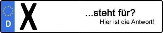 Wofür steht das Kfz-Kennzeichen X? | Kfz-Kennzeichen - AUTOPURISTEN.net