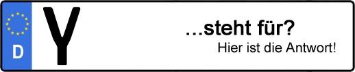 Wofür steht das Kfz-Kennzeichen Y? | Kfz-Kennzeichen - AUTOPURISTEN.net