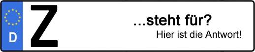 Wofür steht das Kfz-Kennzeichen Z? | Kfz-Kennzeichen - AUTOPURISTEN.net