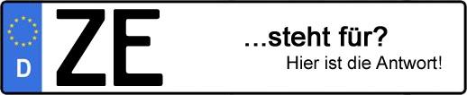 Wofür steht das Kfz-Kennzeichen ZE? | Kfz-Kennzeichen - AUTOPURISTEN.net
