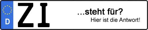 Wofür steht das Kfz-Kennzeichen ZI? | Kfz-Kennzeichen - AUTOPURISTEN.net