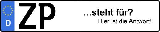 Wofür steht das Kfz-Kennzeichen ZP? | Kfz-Kennzeichen - AUTOPURISTEN.net