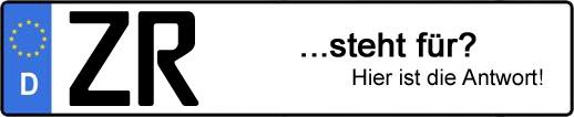 Wofür steht das Kfz-Kennzeichen ZR? | Kfz-Kennzeichen - AUTOPURISTEN.net