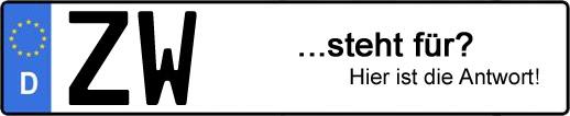 Wofür steht das Kfz-Kennzeichen ZW? | Kfz-Kennzeichen - AUTOPURISTEN.net